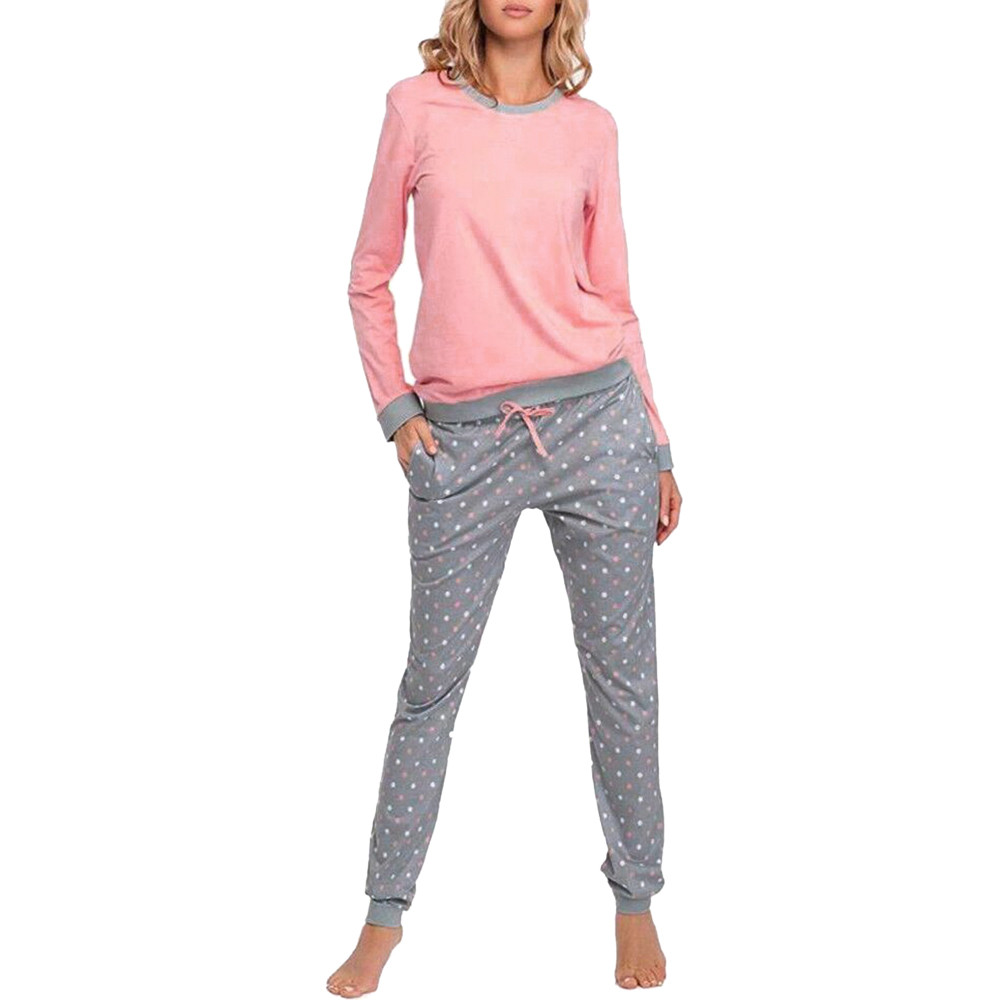 Wholesale Pajamas Sets Spring Autumn Thin Cotton Women Long Sleepwear Suit Home Women Gift Female Sleepwear pyjamas women s007