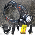 8000 lumen LED Headlamp  XML T6+2R5 4-mode LED Headlight Head Lamp Light torch for fishing Lights
