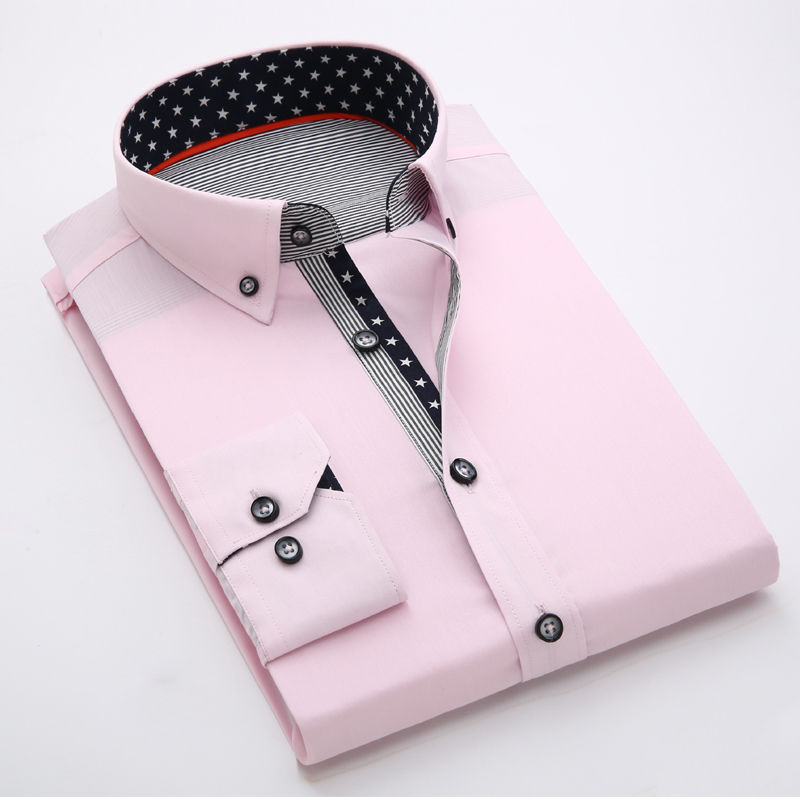 Button Shirt Men Dress 2017 Long Seelve Camisas Masculina Plus 4xl 5xl Business Dress Shirt Men's Fashion Casual Formal Shirt