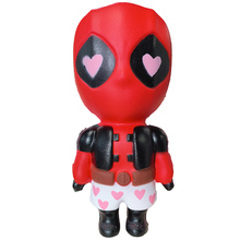 Jumbo  Avengers Deadpool Squishy Cartoon Doll Slow Rising Soft Sweet Scent Squeeze Toys Stress Relief Fun for Kid Xmas Gift Toy