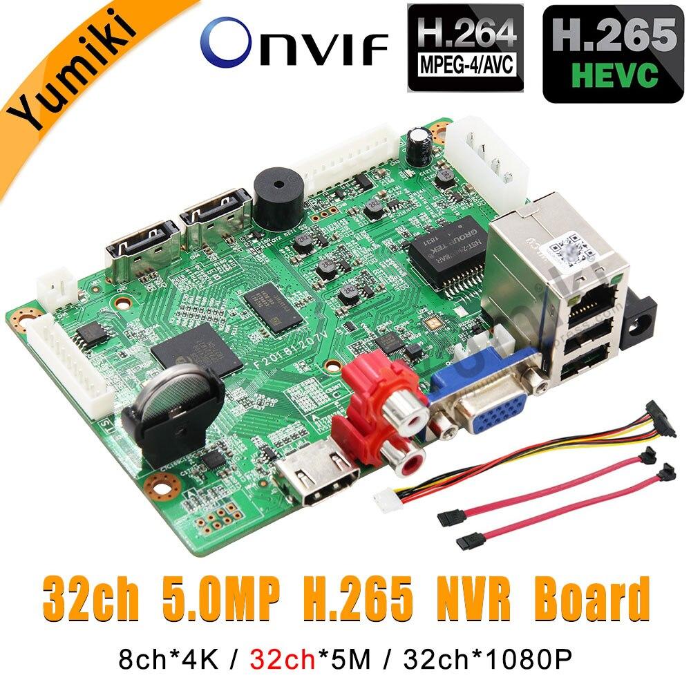 8ch * 4 K/32ch * 5.0MP/32ch * 1080 P H.265/Vidoe Gravador H.264 NVR Rede placa DVR XMEYE CMS ONVIF IP Câmera com Linha SATA