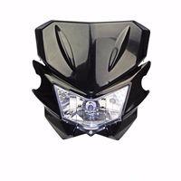 Black 35W Off Road Dirt Bike MX Enduro Motorcycle Headlight Streetfighter Custom