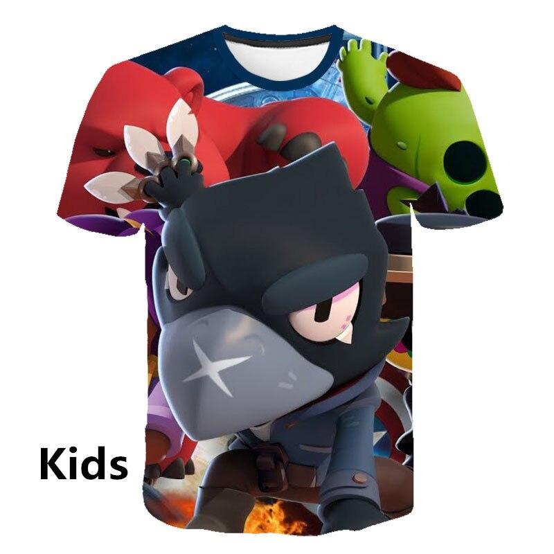 Kids Game Brawl Stars 3D Printed   T     Shirts   Spring Tops Summer Tees Men Women Short Sleeve Casual Personaity   T     Shirts   100-160