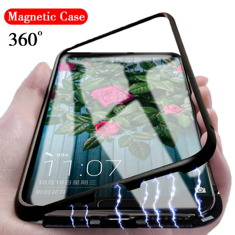 360 Magnetic Adsorption Metal Case For huawei honor play 10 8X hono Magnet phone Case For Huawei P20 lite Mate 20 pro 20X Coque