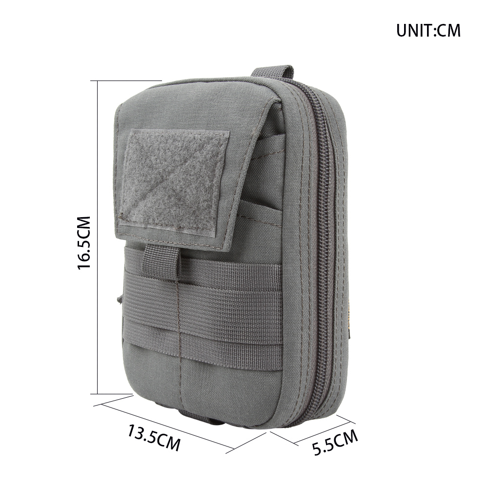 Multifunction Double Zipper Waist Bag