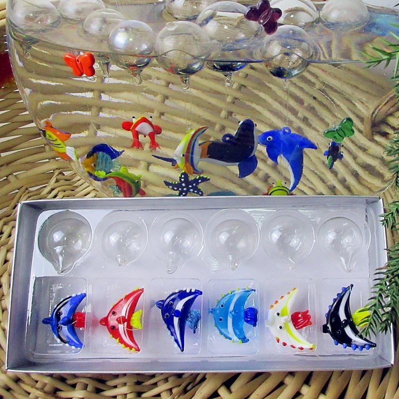 Mini ocean world aquarium decorations pendant hand blown for Aquarium decoration for sale