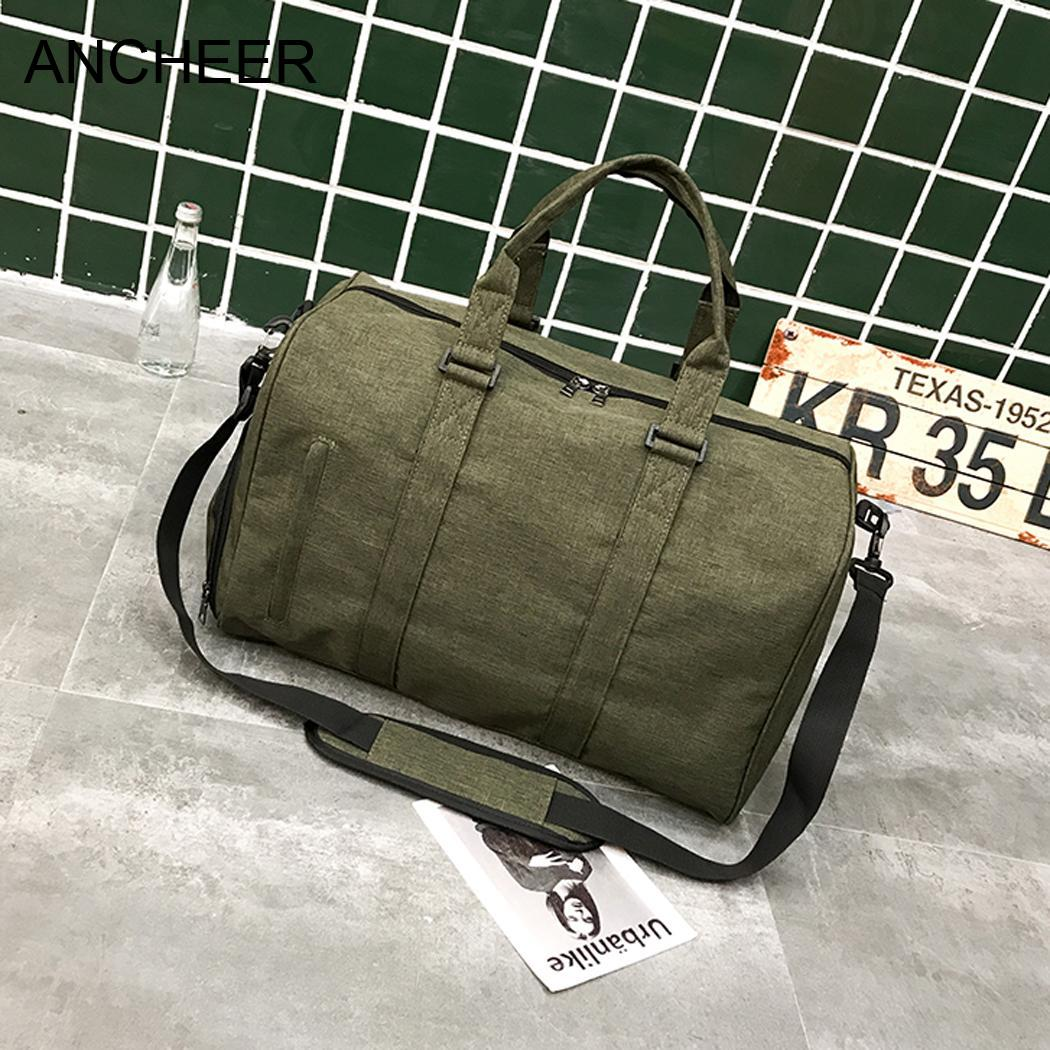 Travel Size Duffel Bag Canvas Durable Bag with Shoes Compartment