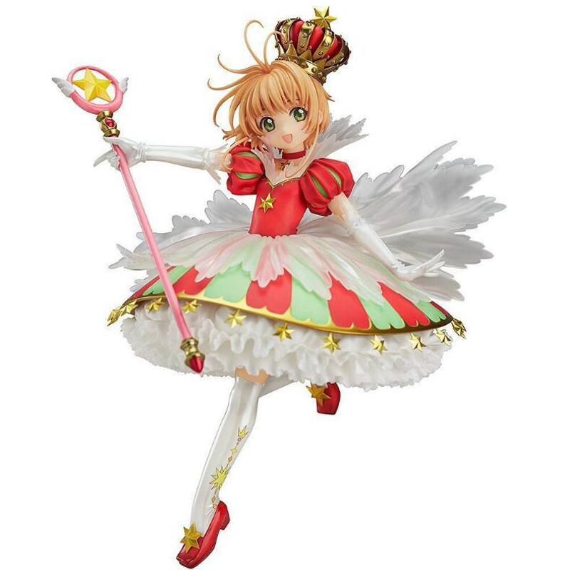 1/7 scale anime figure kinomoto sakura Cardcaptor Sakura model action toys dolls with box Souvenir figures gift Y7859 cardcaptor sakura kinomoto sakura clear card version 19cm anime model figure collection decoration toy gift