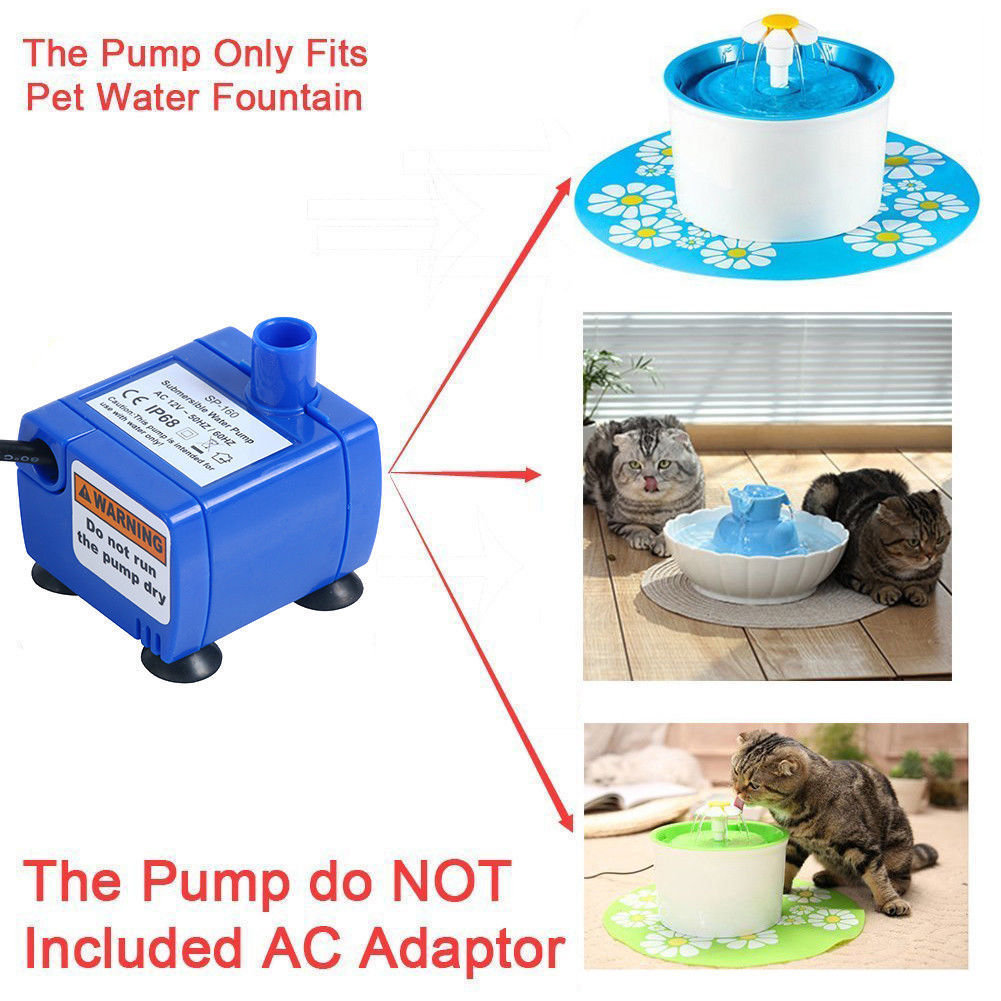Portable Mini Pet Replacement Water Fountain Pump Submersible Dog And Cat Drinking Fountain Blue #6