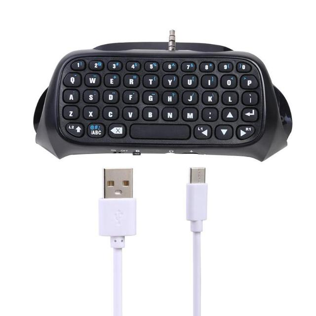 Alloyseed Mini Nirkabel Bluetooth Keyboard Keypad Gamepad Controller untuk Sony PS4 Keyboard