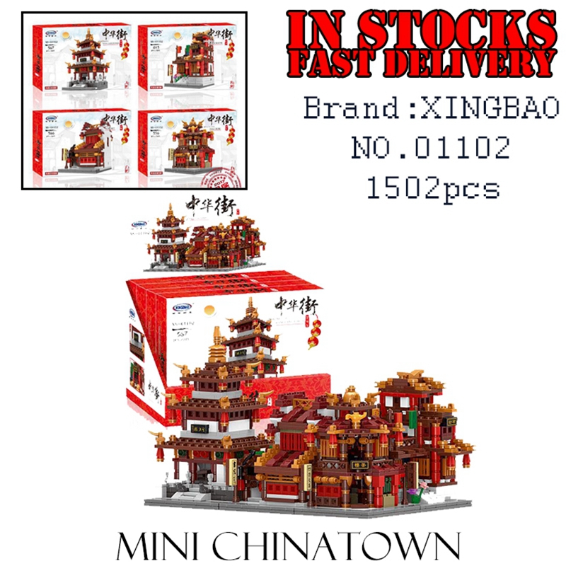 XingBao Creator 01102 1502pcs The Teahouse Library Cloth House Wangjiang Tower Building Blocks Bricks enlighten toy for children the swimmind pool library