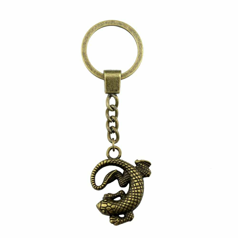 Gecko Key Ring Lizard Keychain Dinosaur Animal Key Chain DIY Handmade Gifts