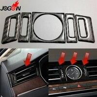 For Volkswagen VW Passat B8 2016 2017 LHD Carbon Fiber Car Interior Front Console Air AC Vent Outlet Clock Cover Trim Stickers