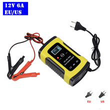 12V 6A Intelligent Car Motorcycle Battery Charger For Auto Moto Lead Acid AGM Gel VRLA Smart Charging 6A 12V Digital LCD Display digital display car charger battery