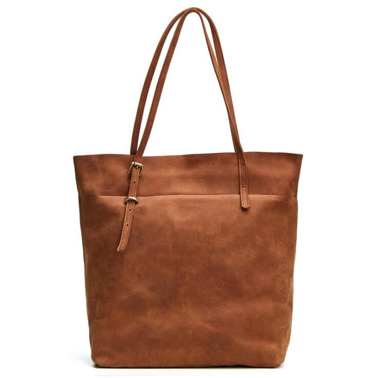 Bagaj ve Çantalar'ten Omuz Çantaları'de En yeni deri çanta MS retro çılgın at deri omuzdan askili çanta çanta pinepoxp'da  Grup 1