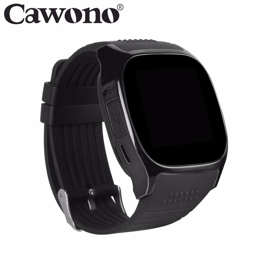 Cawono Nero T8 Bluetooth Astuto Della Vigilanza di Sostegno SIM Carta di TF Con La Macchina Fotografica di Sport Orologio Da Polso Smartwatch per IOS Android VS DZ09 GT08
