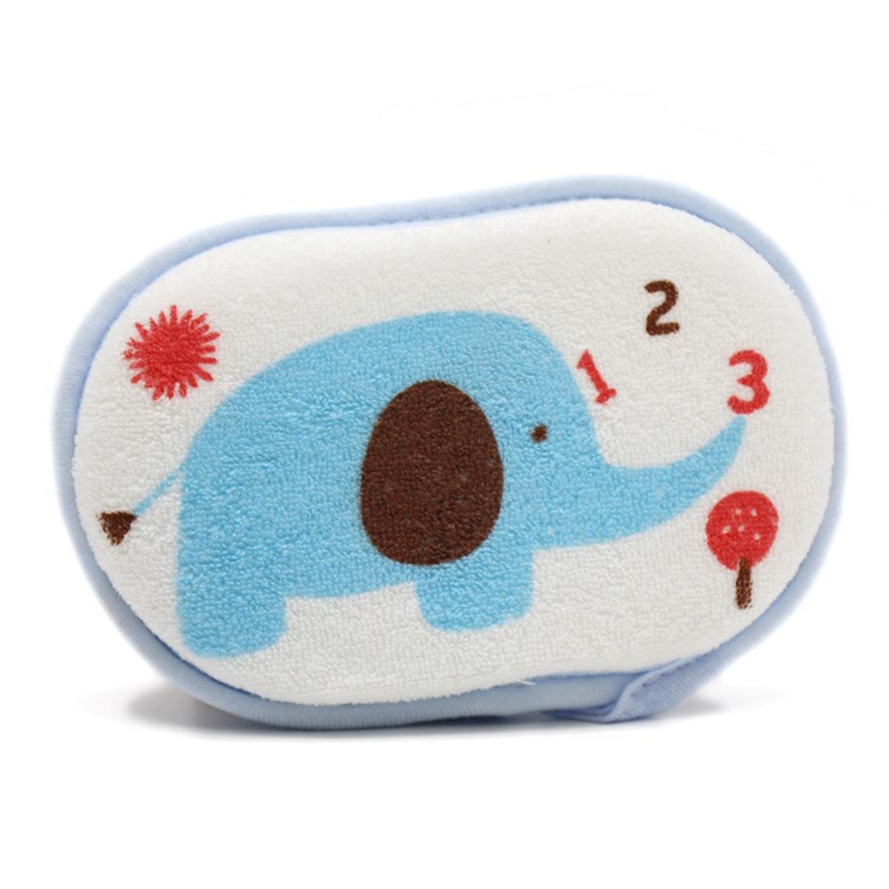Милые детские ванны из хлопка с животным, губка для ванной, подушка для мяч для ванной, Прямая - Цвет: blue