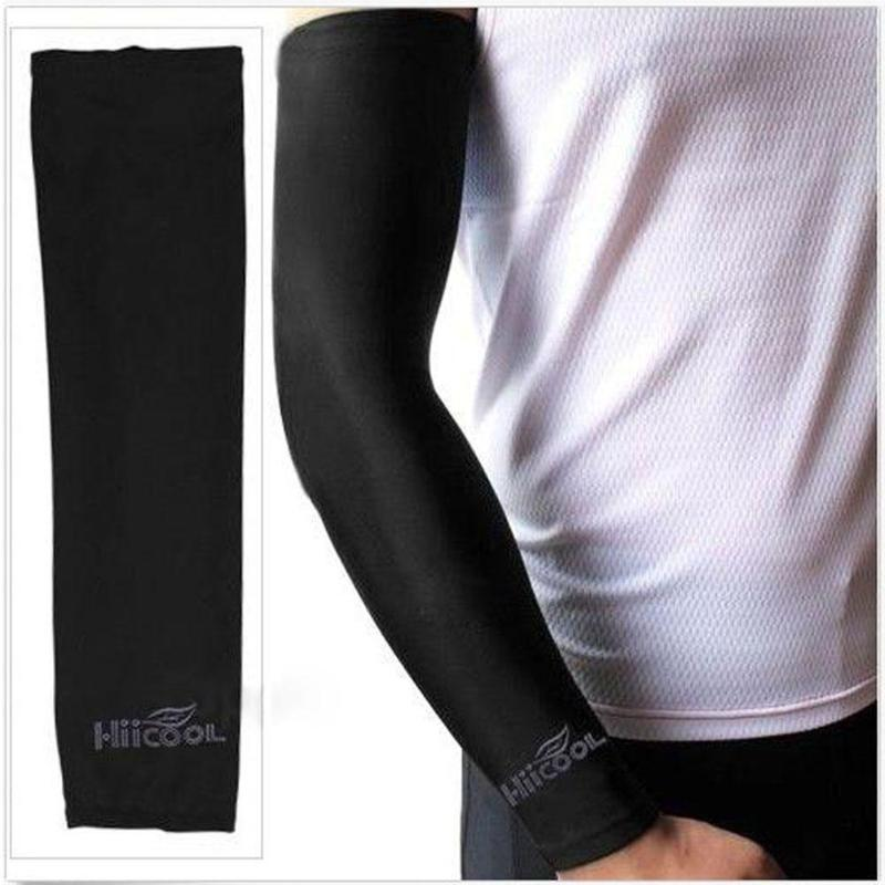 1 Pair New Cooling Arm Sleeves Cover UV Sun Protection Breathe For Climbing Golf Cycling Outdoor Sports Safety Arm Warmers
