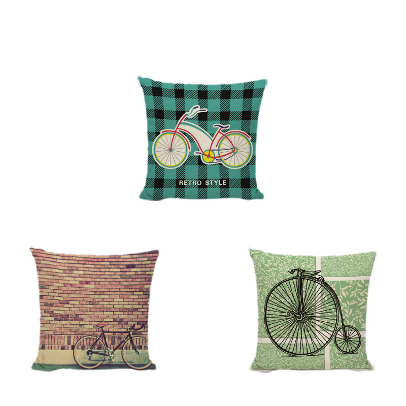 Geometric Pillow Case Shabby Chic Vintage Circle Dot Trigon Rectangle Cushion Cover Mid-Century Game 43*43cm Decorate Home Couch