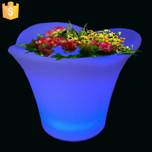 Flower-Pots Planter Light-Up Color-Changing Modern Rechargeable with Remote-Control 10pcs/Lot