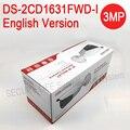 O envio gratuito de versão Em Inglês DS-2CD1631FWD-I substituir DS-2CD2635F-IS/ZJ 3MP CCTV câmera IP vari-distância focal da lente 2.8-12mm POE IP67