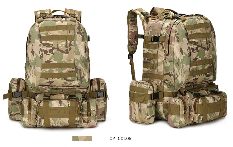 50L Tactical Backpack 4 in 1 Military Bags Army Rucksack Backpack Molle Outdoor Sport Bag Men Camping Hiking Travel Climbing Bag