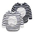 New Boys Cotton T-Shirt Fashion Baby Boy Long Sleeve Striped T Shirts Blouse Toddler Kids Tops Children Clothing Bottom Shirts