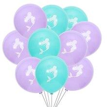 10 inch 10PCS  Mermaid latex balloons for wedding birthday party decorative balloon 2.2g thickened balloon цена