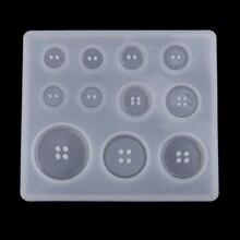 1 лист/11 Различные размеры пресс-форма пуговиц ручной ремесел DIY ювелирной эпоксидной смолы литья формы смола формы для выпечки/шоколада
