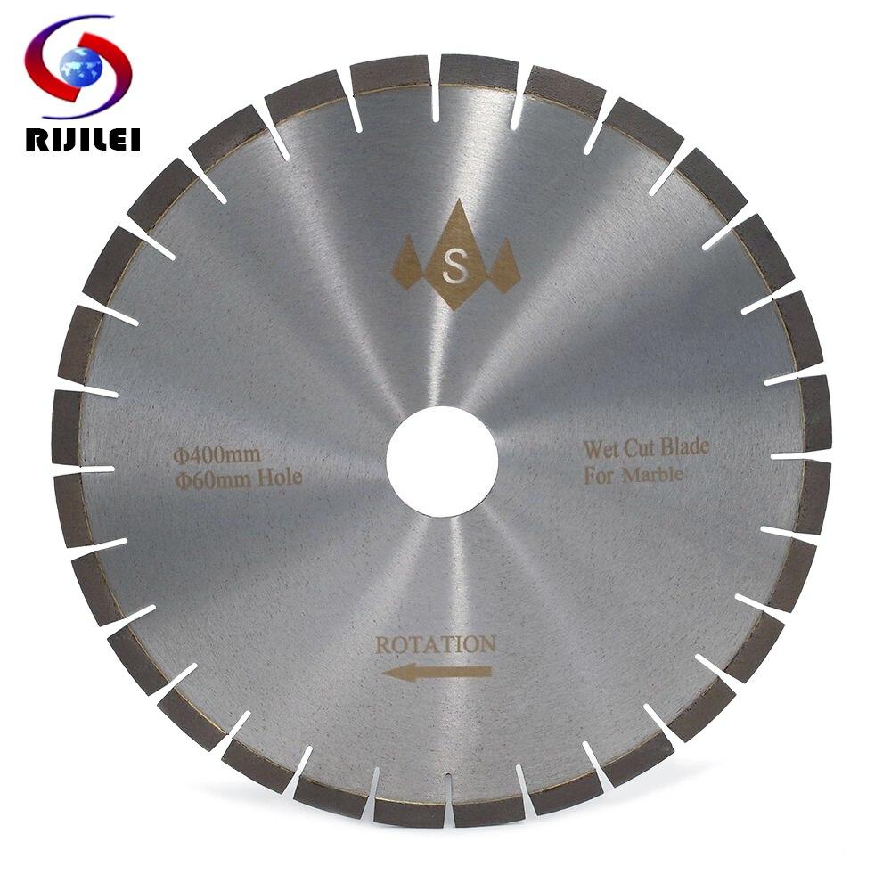 RIJILEI 400MM Silent Marble Diamond Cutting Saw Blades Cutter Blade For Marble Stone Sharp Cutting Circular Cutting Tools