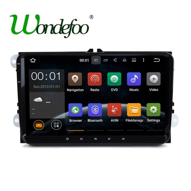 "9"" Android 7.1 RAM 2G /1G Quad core 2 DIN car gps radio SCREEN for VW Golf TiguanSkoda Fabia Rapid Seat Leon Altea no DVD player"