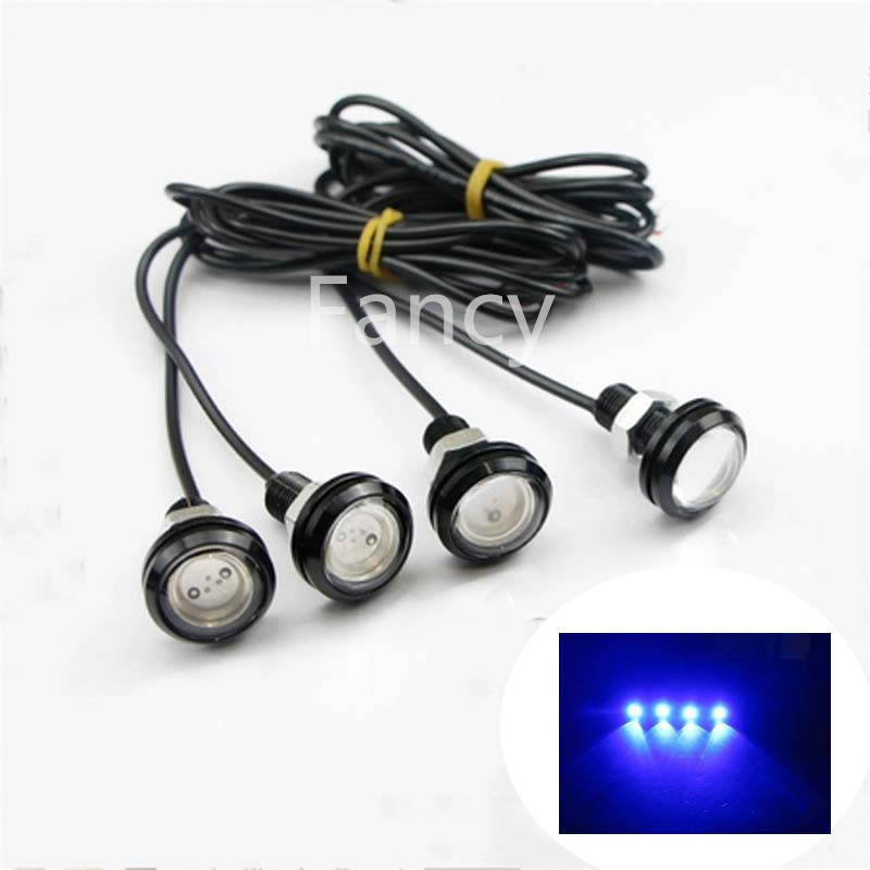 4x Blue /White / Green / Red LED Boat Light Waterproof 12v Outrigger Spreader Transom Underwater Troll Swimming Pool Pond