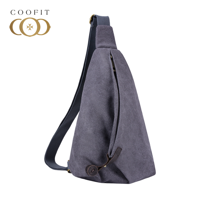 7747eea42b13 Coofit Mens Canvas Fashion Designer Chest Bag Premium Sling Bag Canvas  Small Crossbody Bags Portable Travel
