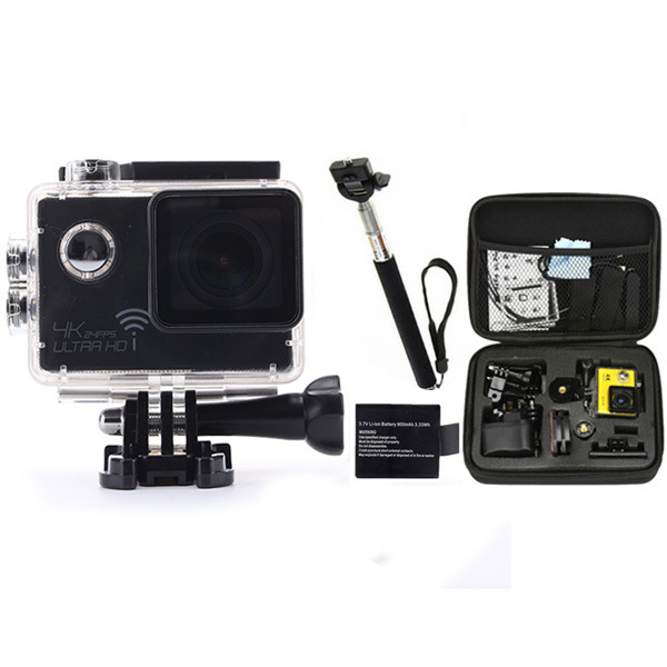 "gopro hero 4 style Action camera Wifi Ultra 4K Novatek 96660 Waterproof Helmet Diving Camera HD 2.0"" LCD Extreme Mini Sport Cam"