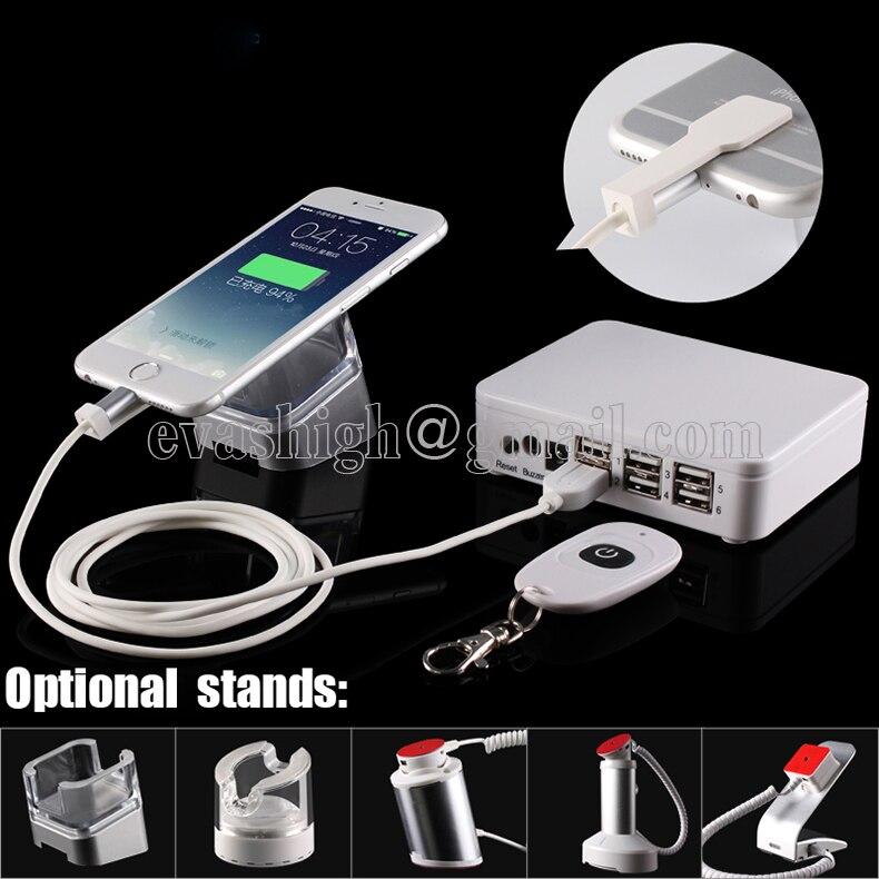 bilder für 6,10 port handy sicherheit ständer tablet alarmanlage handy lade diebstahlsicherung mit sicherheit box kabel