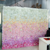 Artificial Silk Rose Wall Wedding Background Peony Orchid Wedding Road Mall Background Wall Decoration