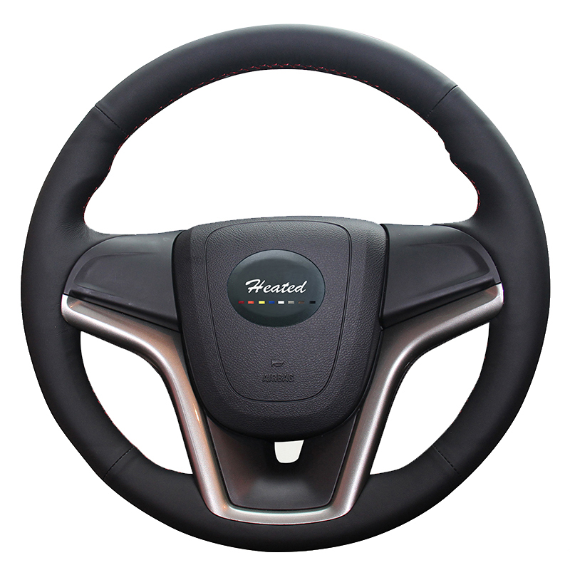 Steering wheel cover for Chevrolet Malibu 2011-2014 Volt 2011-2015 car styling Microfiber leather braid on the steering wheel