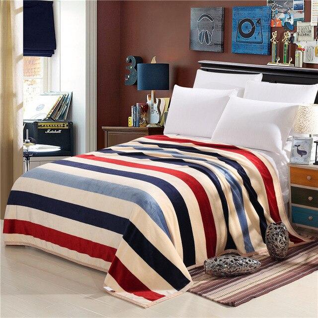 Autunno e inverno moda super morbida flanella coperta di lana divano letto  singolo coperta letto king