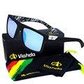 Viahda 2016 Nova Marca Squared Sunglasses O DIRETOR Óculos Ao Ar Livre Dos Homens Do Esporte Designer de gafas de sol Com Caixa de Óculos De Sol da Mormaii
