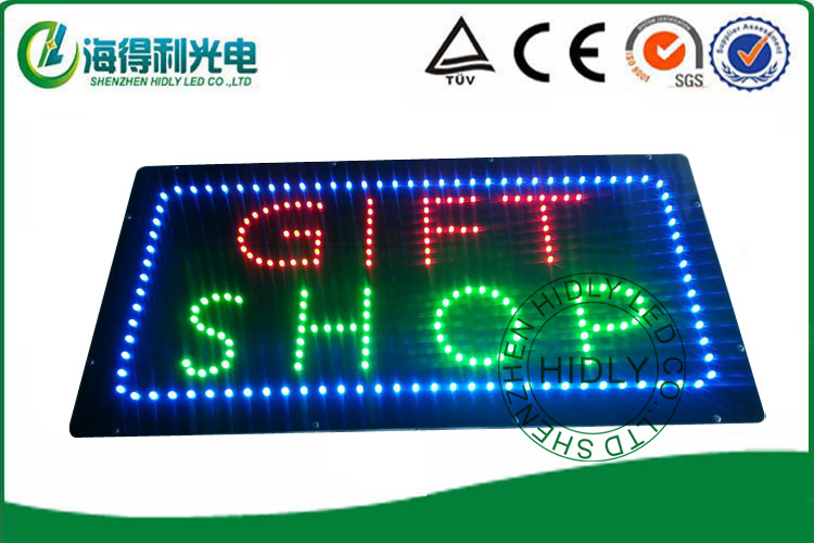 LED Open Sign for Business Displays 11H x 27W x 1D Horizontal Electronic Light Up Sign for Business
