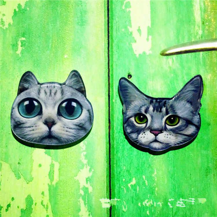 1 шт. Harajuku животное шпилька с подвеской «Кот» значок пластиковая брошь значки для женской одежды значок на рюкзаке акриловый Нагрудный значок на булавке