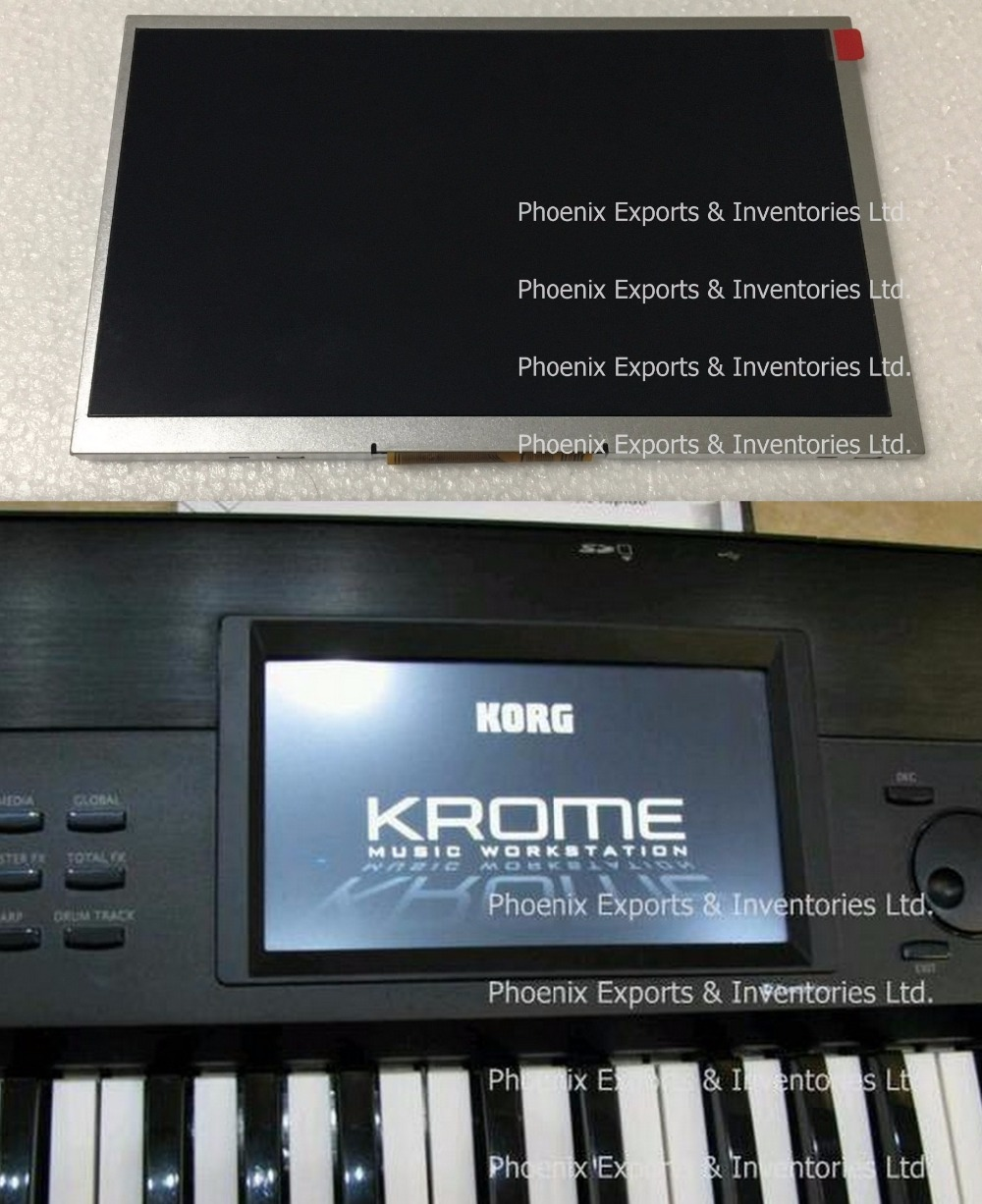 Image 2 - Original Korg LCD Screen for KORG KROME LCD SCREEN Display Panel without touch pad-in LCD Modules from Electronic Components & Supplies