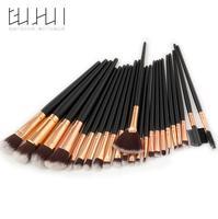GUJHUI 24pcs Premiuim Makeup Brush Set High Quality Soft Taklon Hair Professional Makeup Artist Brushes Tool
