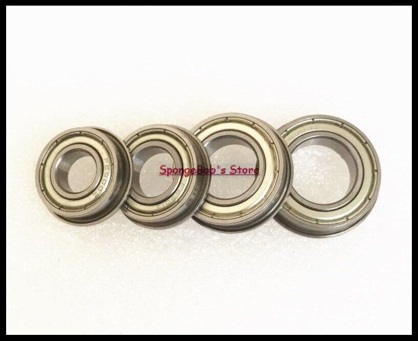 15pcs/Lot F6902ZZ F6902 ZZ 15x28x7mm Flange Thin Wall Deep Groove Ball Bearing 1pcs flange bearing thin wall deep groove ball bearings f692zz 2 6 7 5 3 0 8 mm