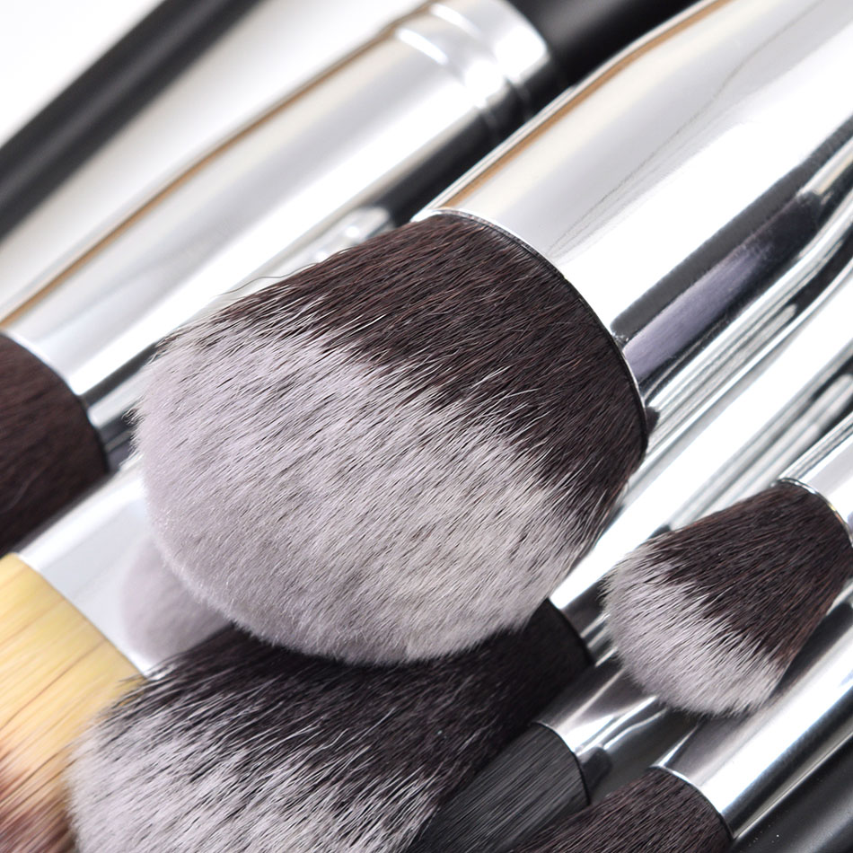 Image 3 - JAF 24pcs Professional Makeup Brushes Set High Quality Make Up Brushes Full Function Studio Synthetic Make up Tool Kit J2404YC B-in Eye Shadow Applicator from Beauty & Health