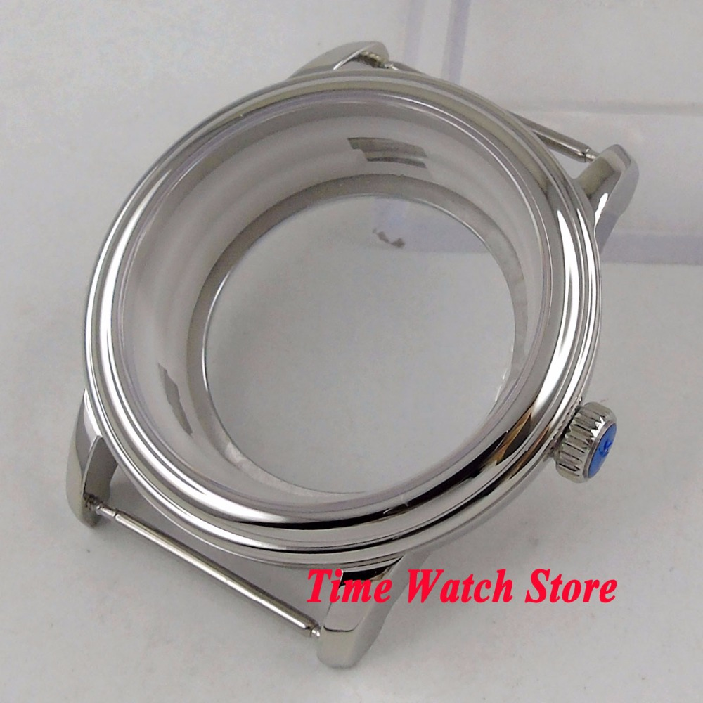 40mm polished watch case 316L stailess steel sapphire glass fit ETA 2836 MIYOTA 8215 Automatic movement C10140mm polished watch case 316L stailess steel sapphire glass fit ETA 2836 MIYOTA 8215 Automatic movement C101