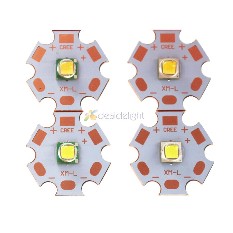 Cree XLamp XML XM-L or XML2 XM-L2 T6 10W High Power LED Emitter Diode on 20mm Copper Base, Cool White, Warm White, Neutral White светодиод cree xlamp xml xml t6 10w 20 platine xm l t6 page 1