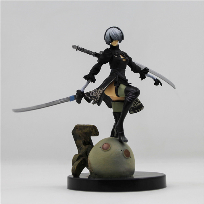 15cm PS4 Game anime figure NieR Automata YoRHa No. 2 Type B 2B Cartoon Toy Action Figure Model Doll Gift