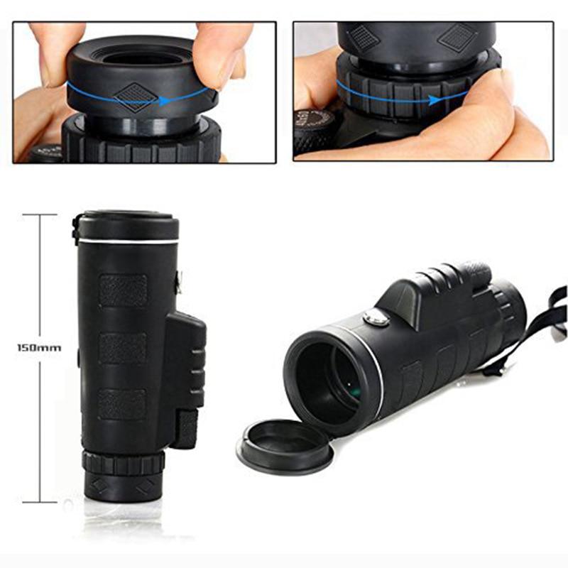 40X60 Monocular BAK4 Monocular Telescope HD Night Vision Prism Scope With Compass Phone Clip Tripod Mobile phone monocular