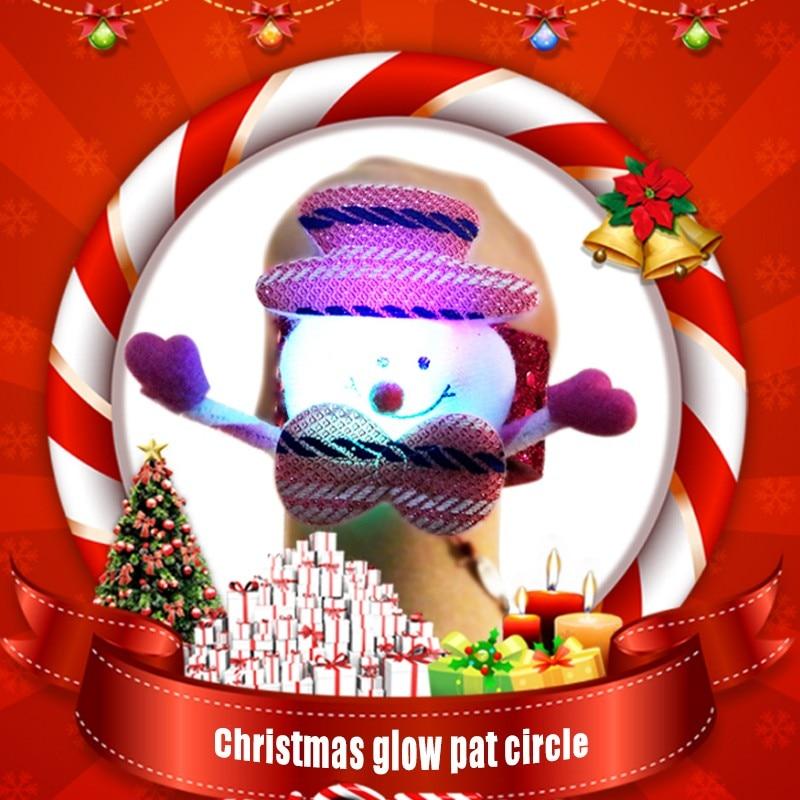 2019 New Christmas Gift For Children The Lighted Toys Bracelets Noel Ornaments Snow Santa Old Santa Bear Elk Circle